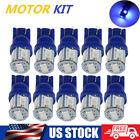 10x For Ford T10 168 194 Led Instrument Panel Cluster Dash Lights Kit Blue Bulbs