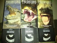 Time Life Video 3 VHS Predators Of The Wild, Snakes, Hunters, Crocodiles