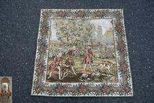 90 x 90 cm Gobelin tapiz tejidos la edad media excursión carruaje greyhund caballo