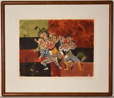 Listed Bolivian Artist Graciela Rod Boulanger Original Signed Etching & Aquatint