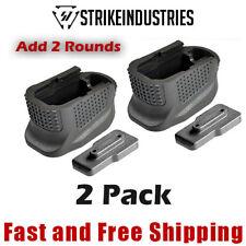 Strike Industries Glock 42 Magazine Base Plate Enhanced Extension +2 Rounds 2 PK
