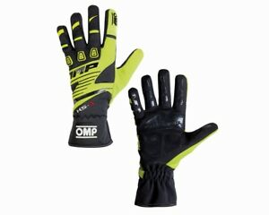 OMP KS-3 karting gloves BLACK/YELLOW Sizes 4 5 6 XXS XS S M L XL KS3 STOCK
