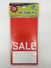 "Garage Yard Sale Tablecards 20ct 4"" X 3.5"" Folded (New)"