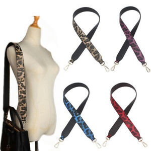 DIY Leopard Design Replacement Leather Bag Shoulder Strap Handle Cross Body Belt