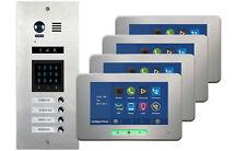 VOSPER 4 Apartments Video Door Entry System Alecto Monitors