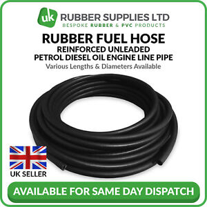 Rubber Fuel Hose Reinforced Unleaded Petrol Diesel Oil Engine Line Pipe 1 Metre