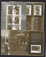 NEW ZEALAND 2009 ANZAC LEST WE FORGET SET OF 7 BOOKLET PANES FINE USED
