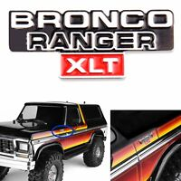 GRC TRX4 Side Front Metal logo for Traxxas TRX-4 BRONCO Body + Type Replacement