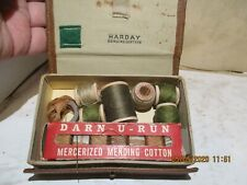 HARDAY LEATHER SEWING KIT , WITH DARN-U-RUN & KOSTER DARNING FLOSS - GOOD SHAPE!