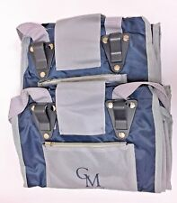 CarryMore Set of 2 Reusable Shopping Bags - Blue with Gray. Closeout!