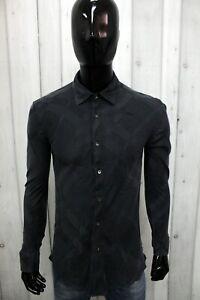 Camicia Burberry Uomo Taglia S Chemise Shirt In Seta Silk Logo Man Manica Lunga