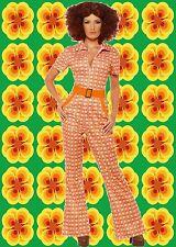489✪ kultiger Schlaghosenanzug Jumpsuit Overall authenisch Kostüm 70er Jahre
