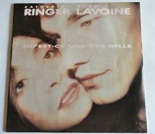 """CATHERINE RINGER - MARC LAVOINE : Qu'est ce que t'es belle 7"""" 45T AVREP 870264-7"""