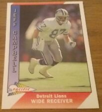 Jeff Campbell (Detroit Lions) 1991 PACIFIC NFL Trading Card # 133