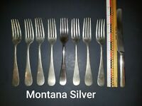 1 Lot Of Vintage Nickel Silver Flatware Utensils - Montana Silver-Lashar-Alaska