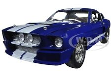 1967 FORD SHELBY MUSTANG GT 500 BLUE W/WHITE STRIPES 1/18 GREENLIGHT 12953