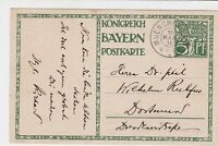 germany bavaria 1911 illustrated stamps post card ref 19932
