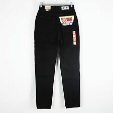 Vintage NEW Bongo High Waist Slim Tapered Mom Jeans Sz 5 25 x 30 Black