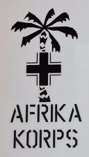 VINYL PRO SIGN TYPE STICKER GERMAN WW2 TUNIS AFRIKA KORPS TUNIS SIZE 8.5X17.5cm