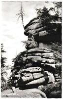Ansichtskarte Felspartie am Waldstein im Fichtelgebirge - schwarz/weiß