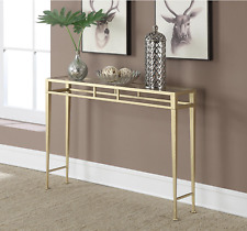 Elegant Gold Glass Top Accent Console Entryway Sofa Table Home Decor Furniture