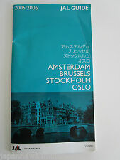 Japan Airlines JAL Guide 2005-2006 Amsterdam Brussels Stockholm Oslo in Japanese