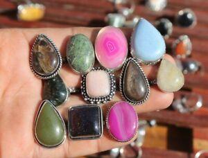 Boho Crystal Handmade Ring Silver Overlay For women Size 5-11 MR-01