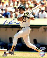 Jose Canseco Signed Oakland A's Swinging Action 8x10 Photo w/40-40 - BECKETT COA