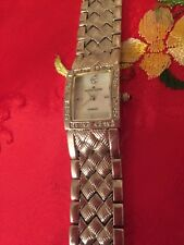 ANNE KLEIN DIAMOND COLLECTION LADIES SILVER-TONE WATCH WITH DIAMOND ACCENTS MOP