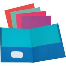 """Oxford Folder Twin-Pocket 1/10""""Wx11-3/4""""L x9-2/5""""H 50/Bx Ast 52074"""