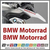 2x BMW Motorrad Red R1200 R1150 F800 F650 F700 GS 99-17 PEGATINA AUTOCOLLANT