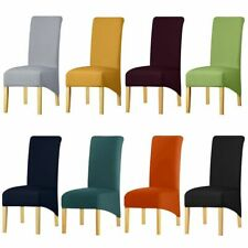 Chair Cover Spandex Fabric Long Back Decor Restaurant Hotel Party Seat Slipcover