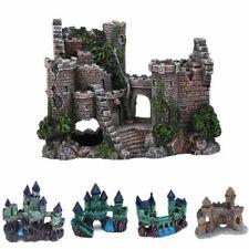 Artificial Aquarium Castle Decoration Ancient Tower Ornament Fish Tank Rock Cave