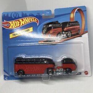 Hot Wheels Track Stars: Custom Volkswagon Hauler Red/Black New