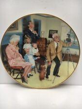 """ Family Portrait� By Michael Hagel- 1985 Plate# 28726 - Gorham China - 24Kt Rim"