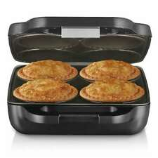 Sunbeam Meat or Sweet Pie Maker Magic Home 4 Up Deep Sized Pies Non-Stick Plates