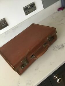 Small Vintage Suitcase 1940s 1950s Paddington Bear Case VGC