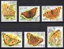 Papillons Afghanistan (1) série complète de 6 timbres oblitérés
