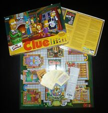 GUC The Simpsons Clue 2nd Edition Murder Mystery Detective Game 2002 Second