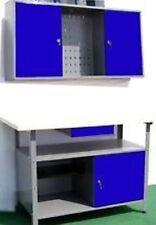 Montage Werkstatt Werkbank Werkzeugschrank 2teilig blau Schrank abschließbar NEU