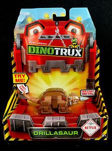 DreamWorks Dinotrux Drillasaurus Diecast Metal Vehicle Dinosaur Netflix Mattel