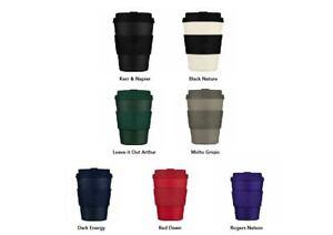 Ecoffee Cup Reusable Eco Friendly Coffee Travel Mug Classic Colour sleeve & lid
