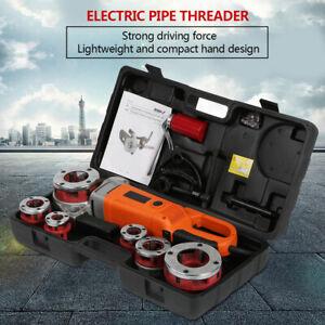 2300W Power Portable Handheld Electric Pipe Threader Threading Machine 6 Dies AU