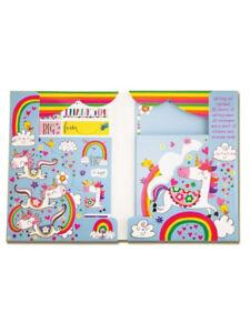 Magical Unicorn Writing Set Wallet Rachel Ellen Designs Girls Notepaper Stickers