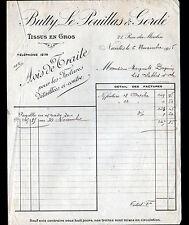 """NANTES (44) TISSUS en gros """"BUTTY , LE POUILLAS & GORDE"""" en 1915"""
