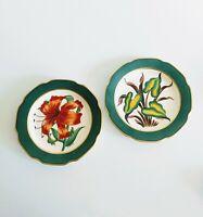 Victoria Flemming Cufflink Designer - Set Hand China Plates Floral C1940s