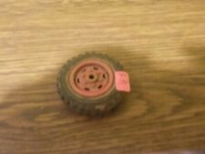 vintage wyandotte semi truck one red wheel and tire for parts