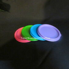 Tupperware NEW Set 4 REPLACEMENT Snack Cup Seals Only L Blue Purple Green PINK