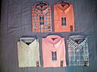 NWT NEW mens CROFT & BARROW True Comfort stretch flex collar dress shirt $45