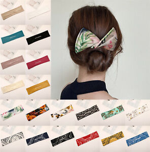 UK Deft Bun Hair Bands Women Summer Knotted Wire Lady Headband Print Hair Tools